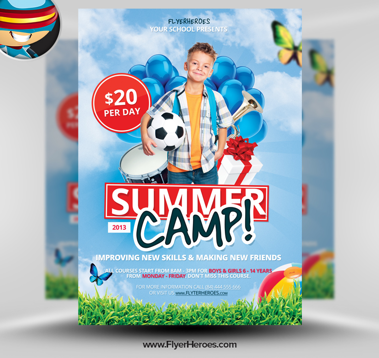 11 Summer Camp Template PSD Images