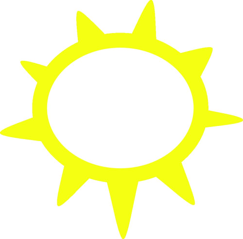 Sunny Weather Symbols Clip Art