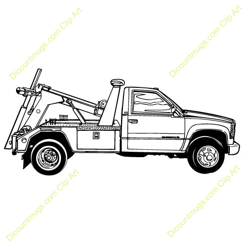 Tow Truck Vector Clip Art