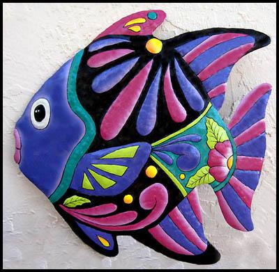 Tropical Fish Metal Wall Art