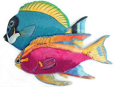 Tropical Fish Metal Wall Decor