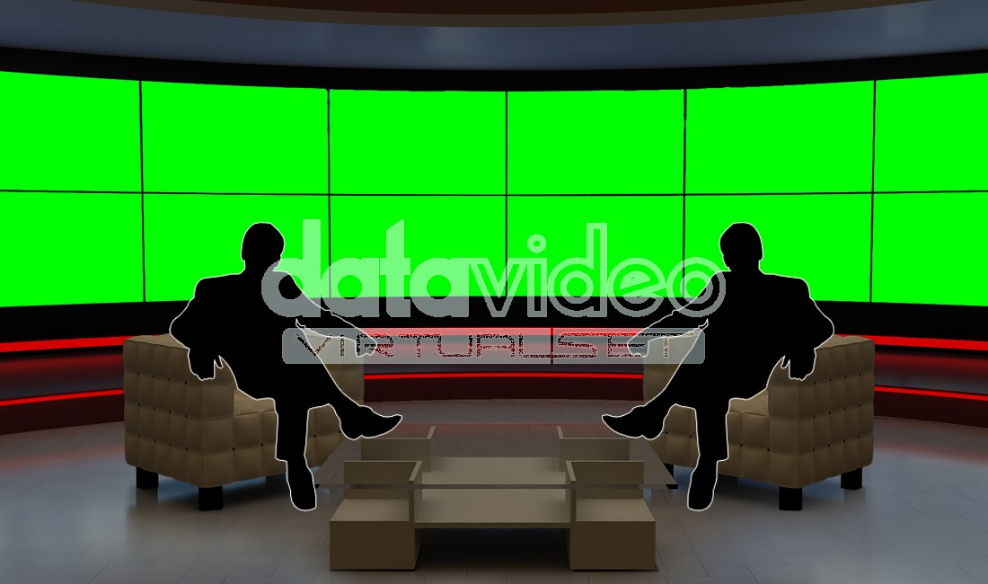 10 Virtual TV Studio Images Set PSD Images