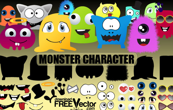 Vector Monster Character