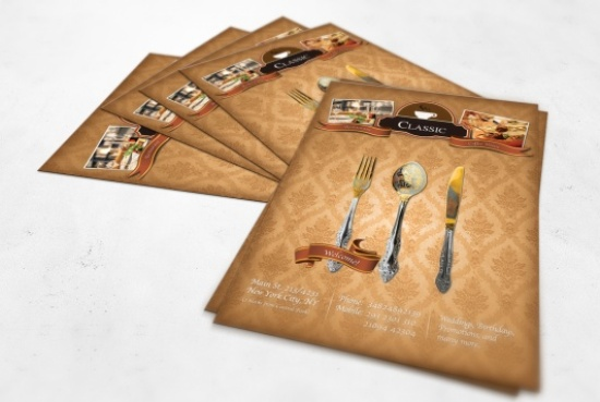 Vintage Restaurant Flyer Template Free