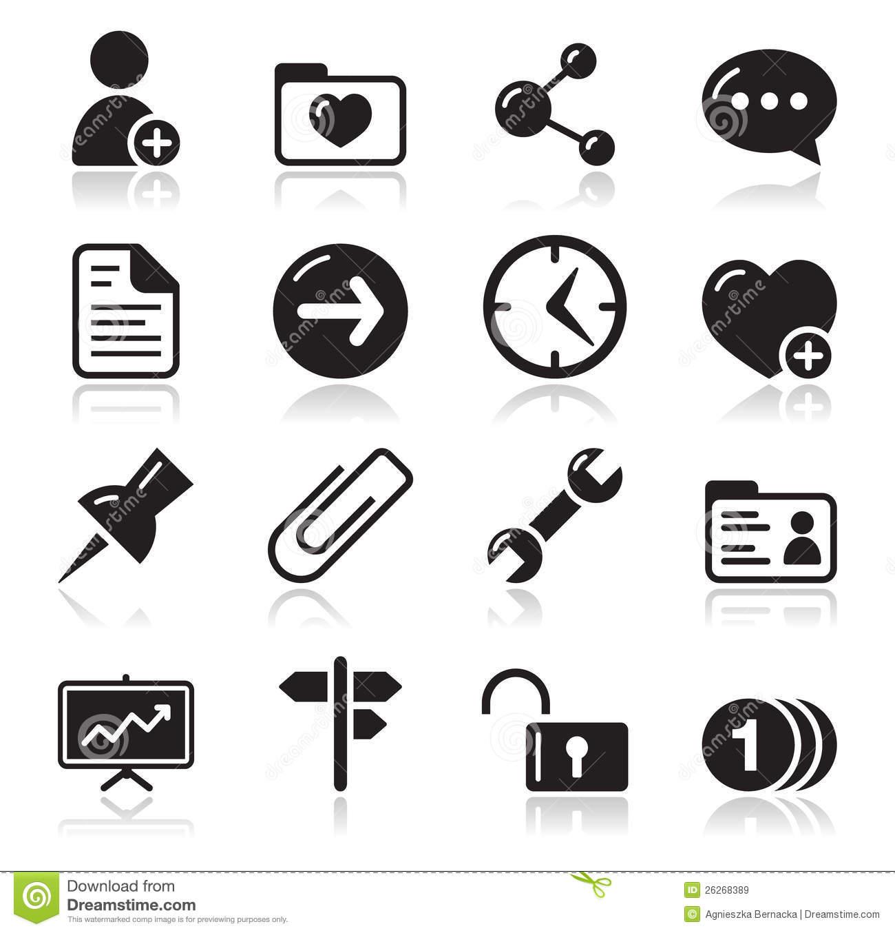 Website Navigation Icon Set