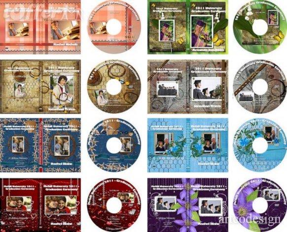 Wedding DVD Cover Template PSD