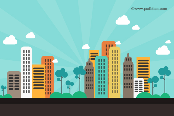11 City Background PSD Images