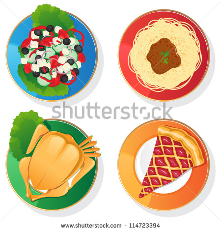 14 Greek Food Vectors Images