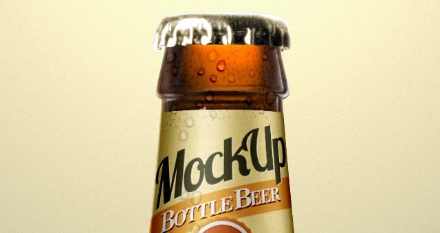 16 Beer Bottle PSDs Images