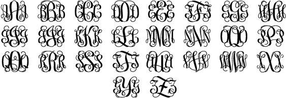 Best Monogram Fonts Initials