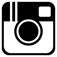 Black and White Instagram Icon Transparent