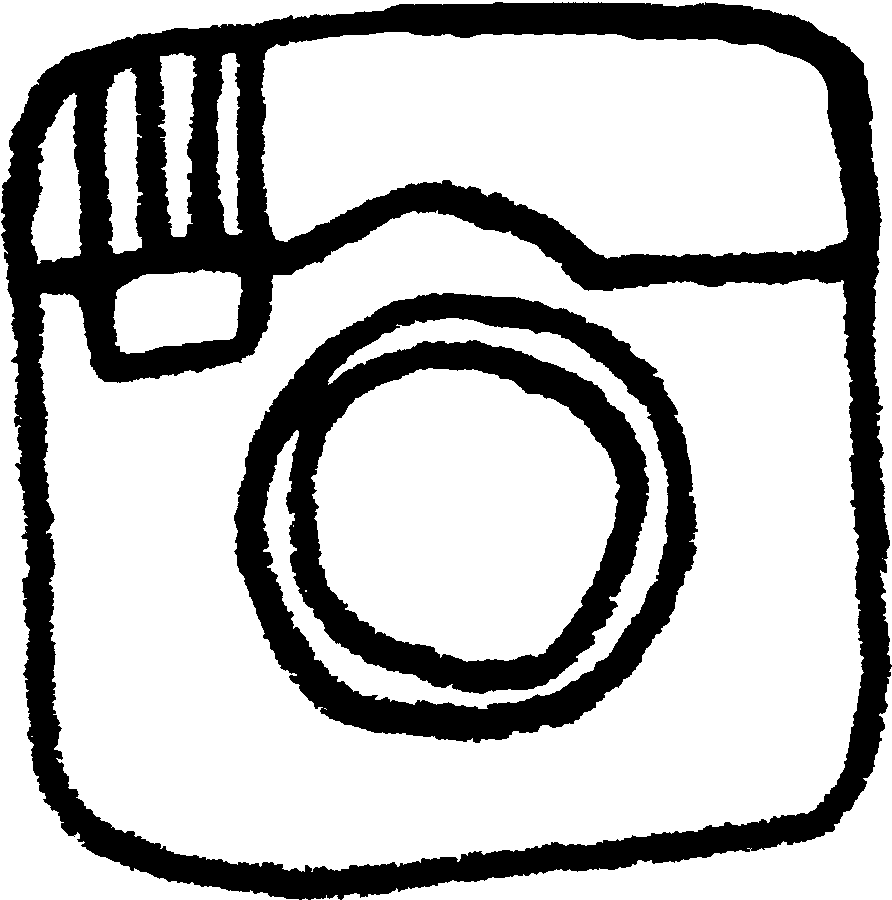 Line Drawing Instagram : Black and white instagram icon images logo