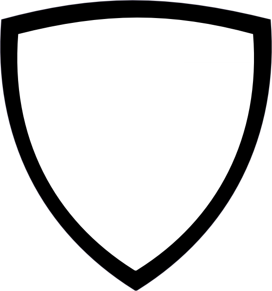Black and White Shield Outline