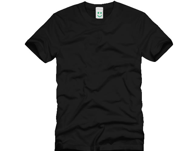 Blank Black T-Shirt Template