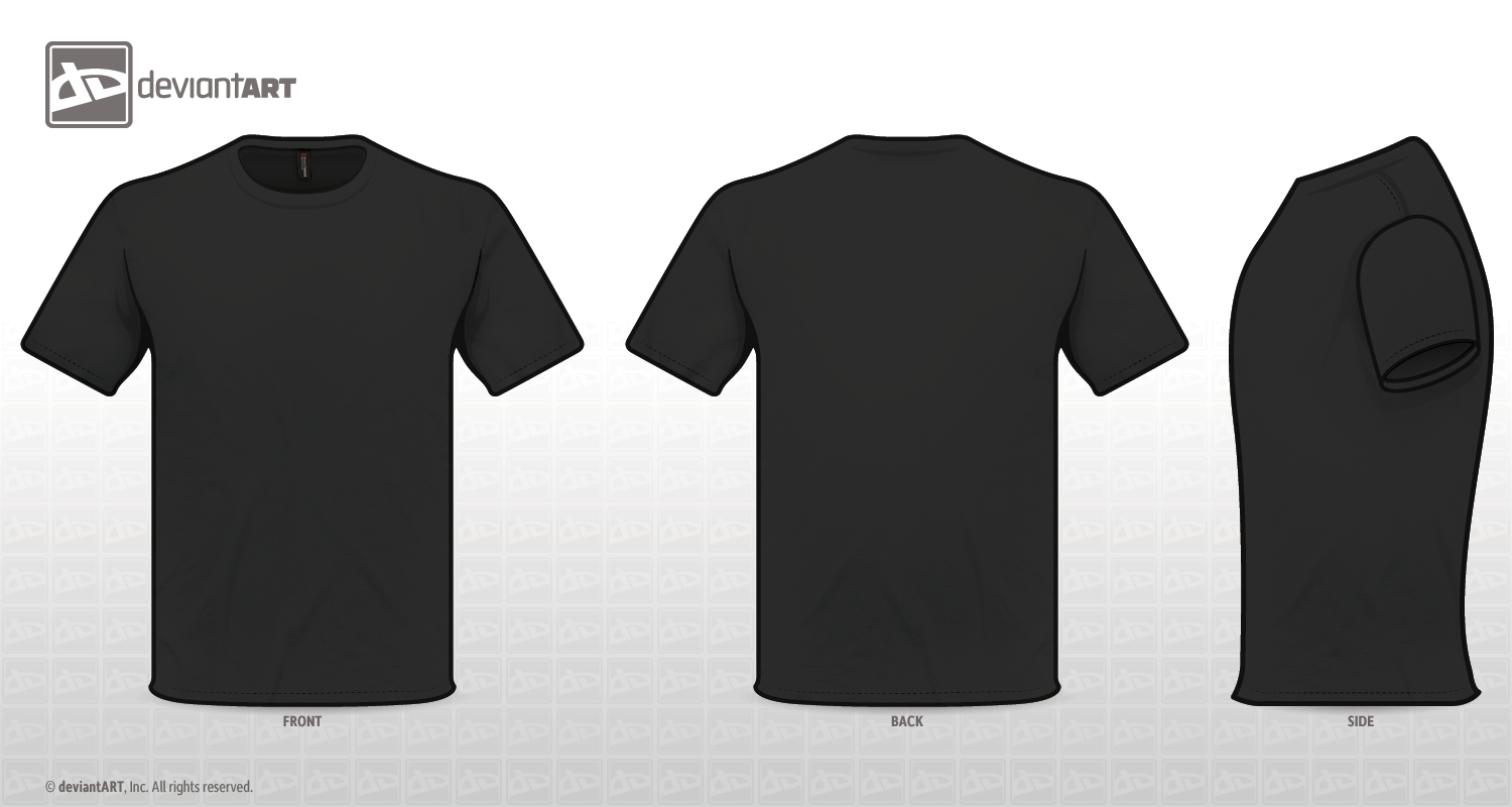 Black t shirt model template - Black T Shirt Psd Template Blue T Shirt Design Template