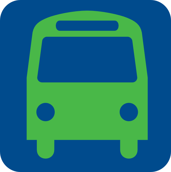 11 Blue Bus Icon Images