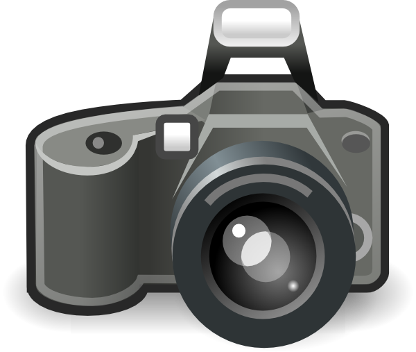Camera Clip Art with Transparent Background