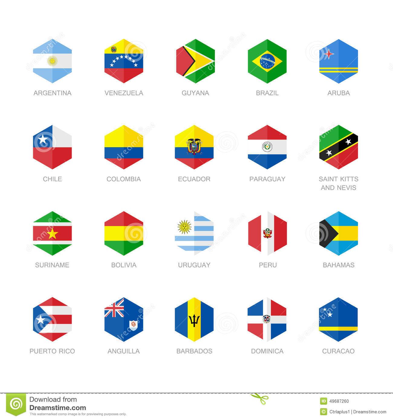 Caribbean South America Flag