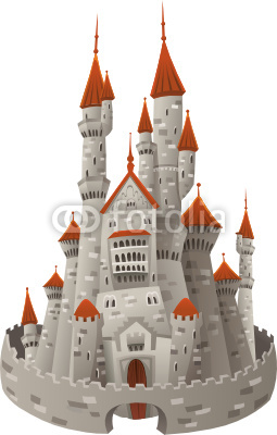 Cartoon Medieval Castles