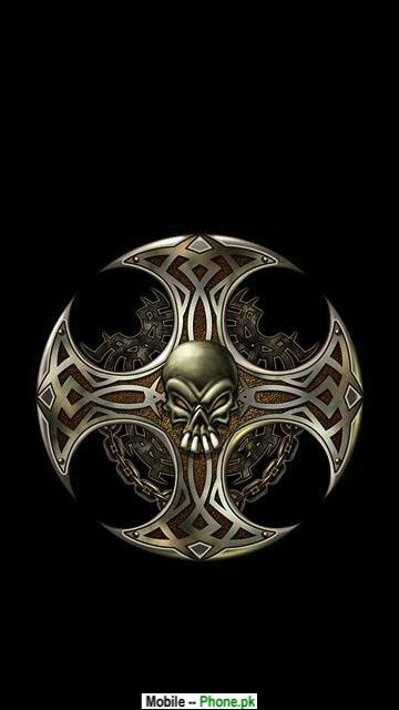 17 cool skull background designs images fish skull for Celtic skull tattoo