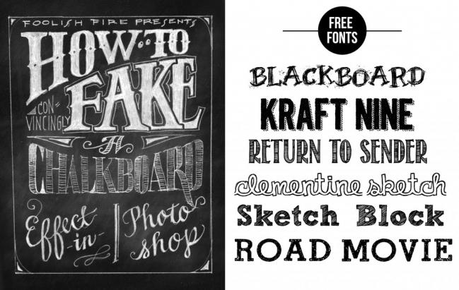 Chalkboard Fonts Free Fun