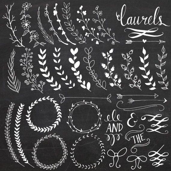 Chalkboard Wreath Clip Art