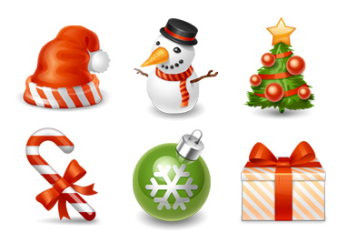 13 Xmas Icons For Email Images