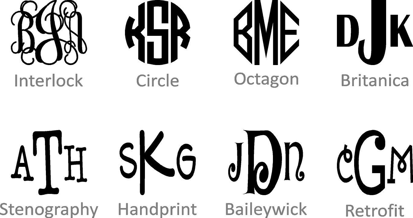 Circle Monogram Font Name