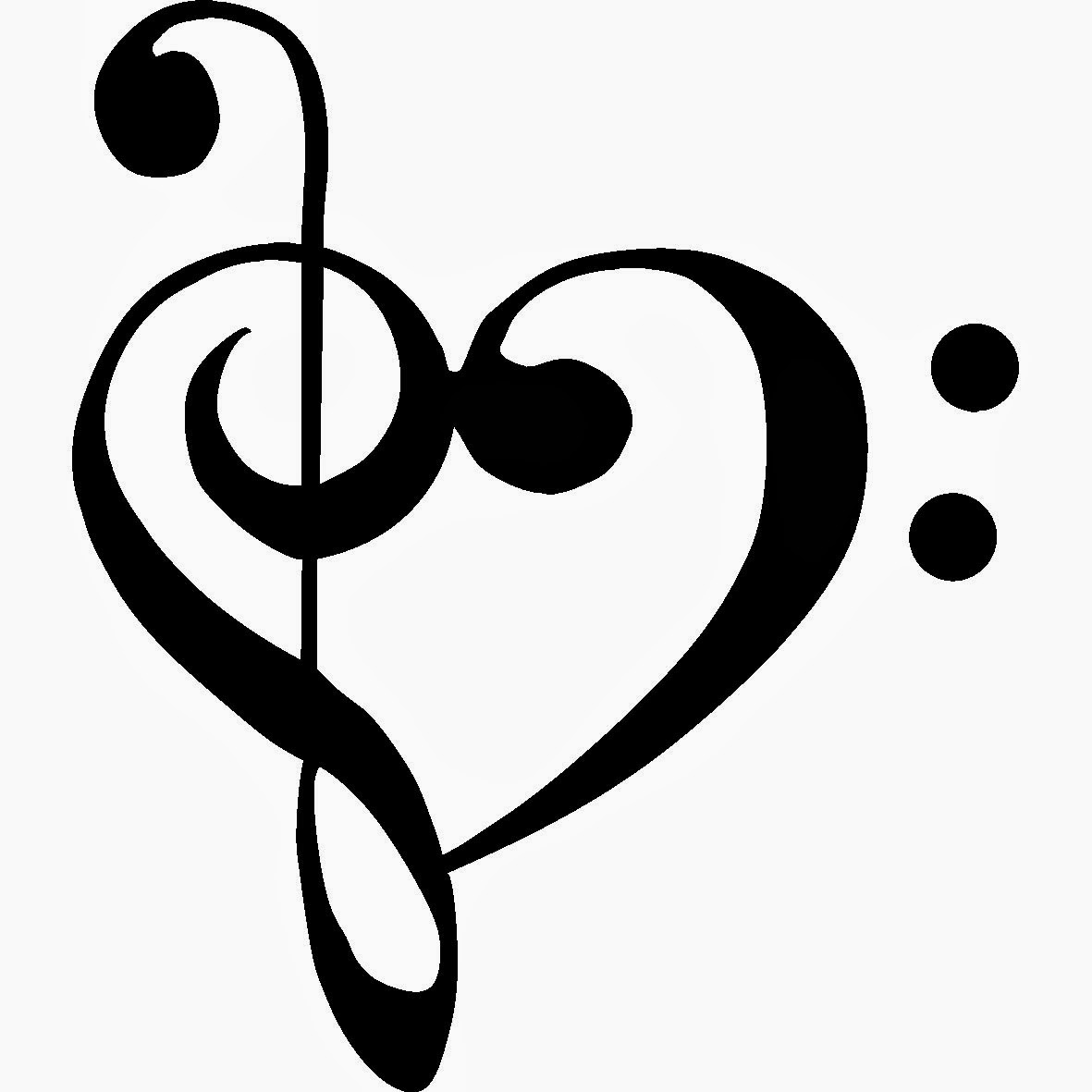 Cool Music Notes Heart