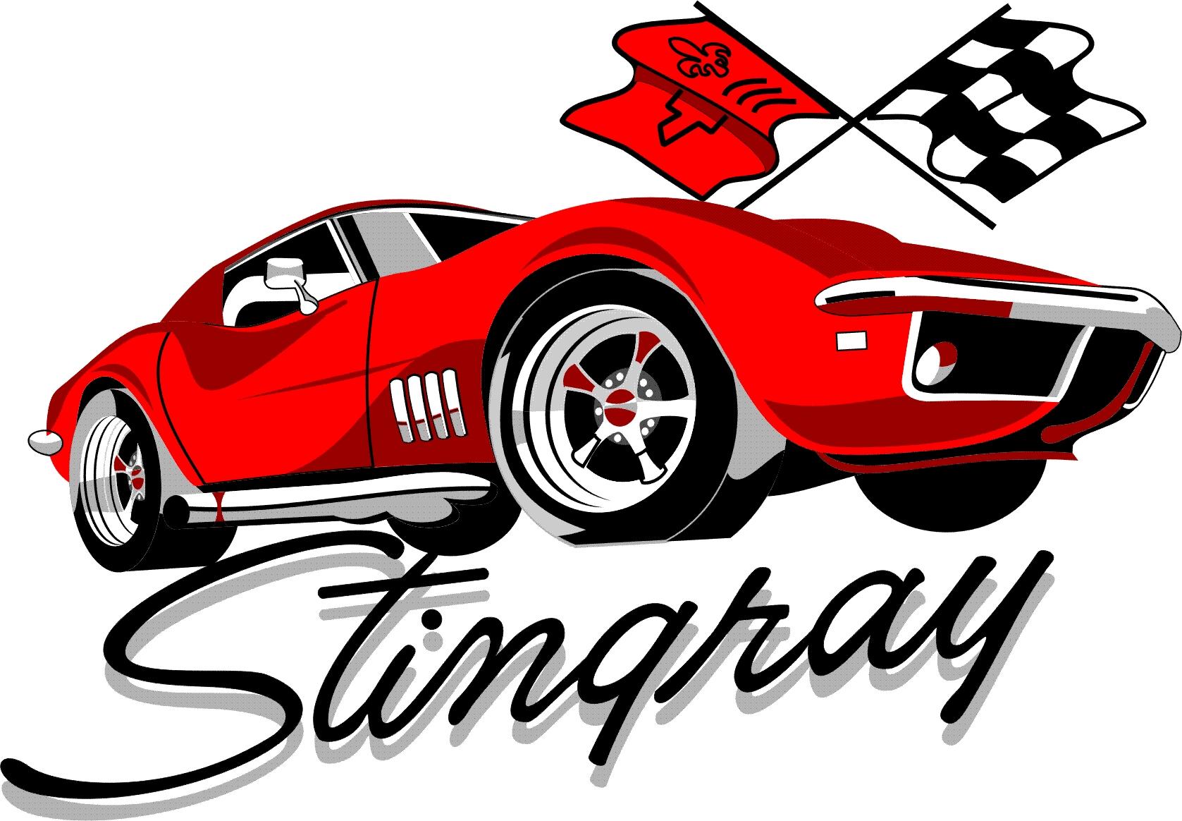 Old Race Car Drawings