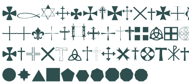 Cross Religious Fonts