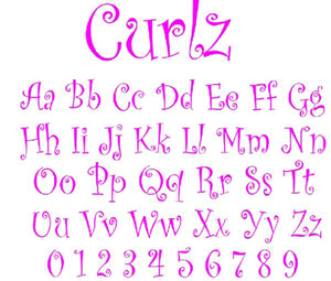 12 Curlz Embroidery Monogram Fonts Images