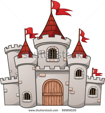 12 Cartoon Castle Vector Images
