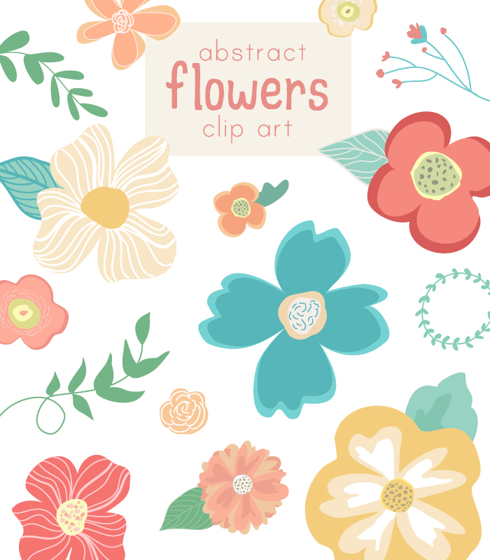 Cute Flower Clip Art Vector