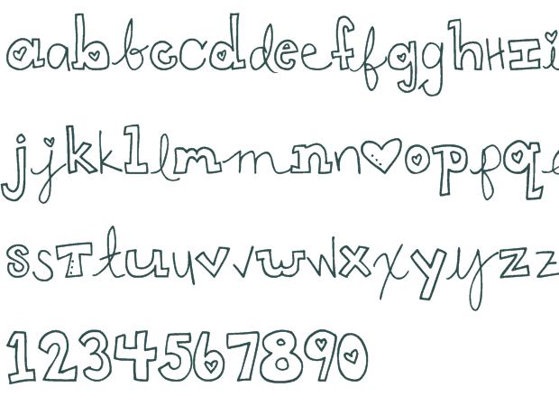 Cute Handwriting Fonts Bubble