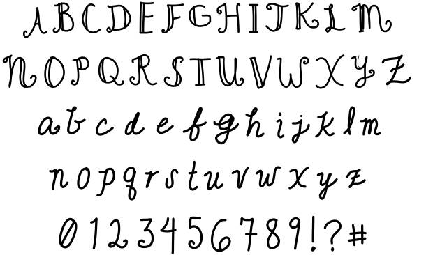 Cute calligraphy fonts images script