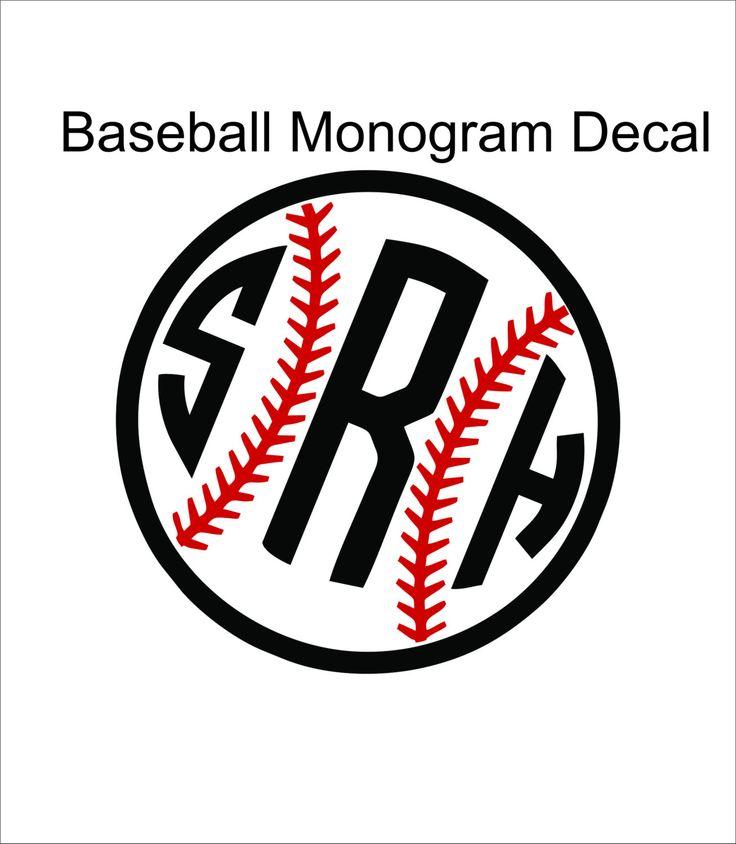 Decal Monogram Baseball