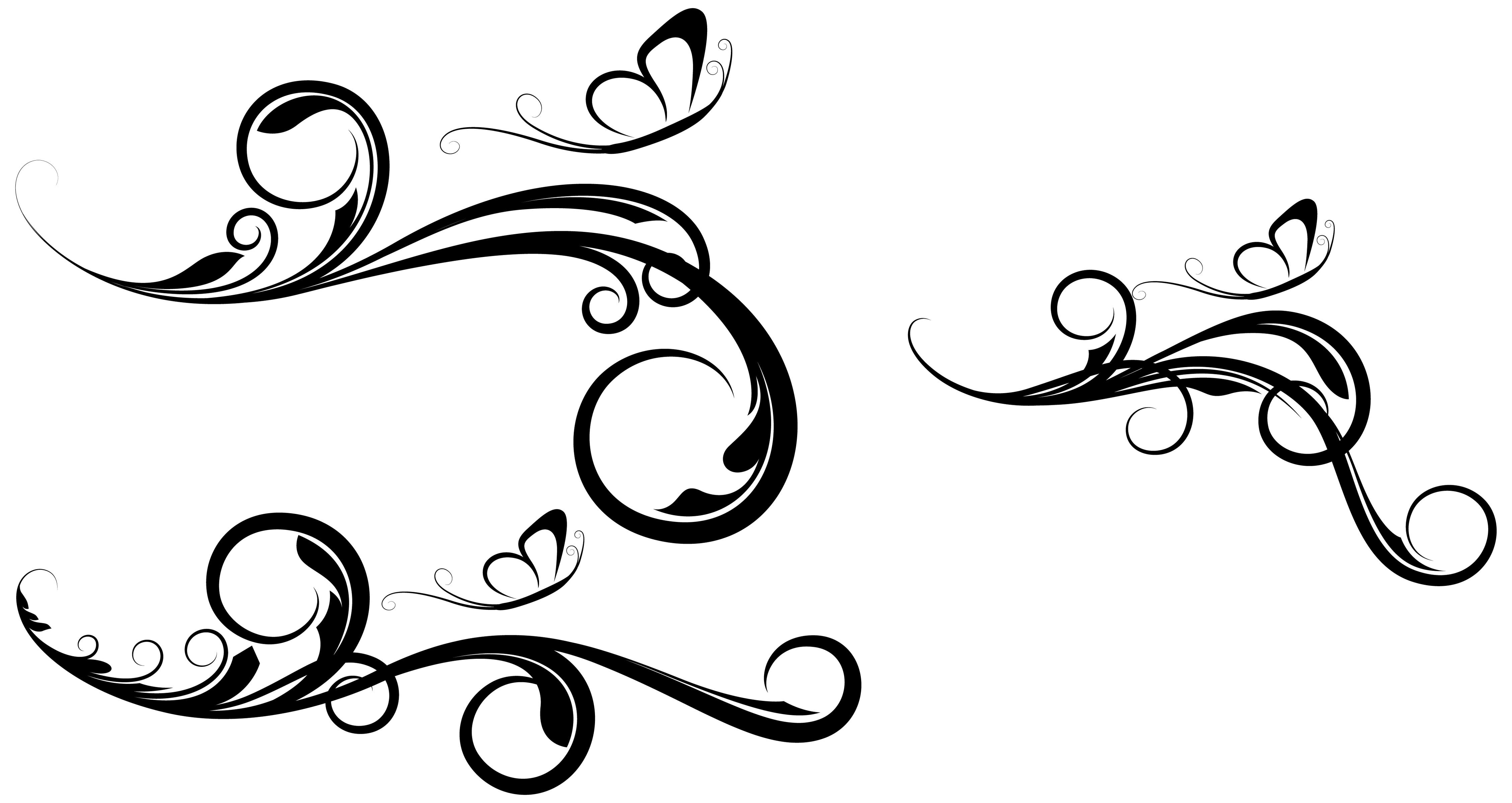 17 Fancy Swirl Vector Images - Free Elegant Vector Swirls, Decorative ...