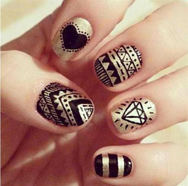 14 simple black nail designs images polka dot matte nails black easy do it yourself nail art designs 2015 nail solutioingenieria Choice Image