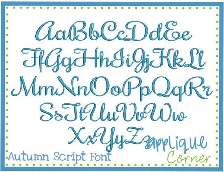 14 Script Embroidery Font Applique Images  Machine