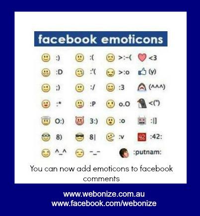 Facebook Emoticons Keyboard Shortcuts