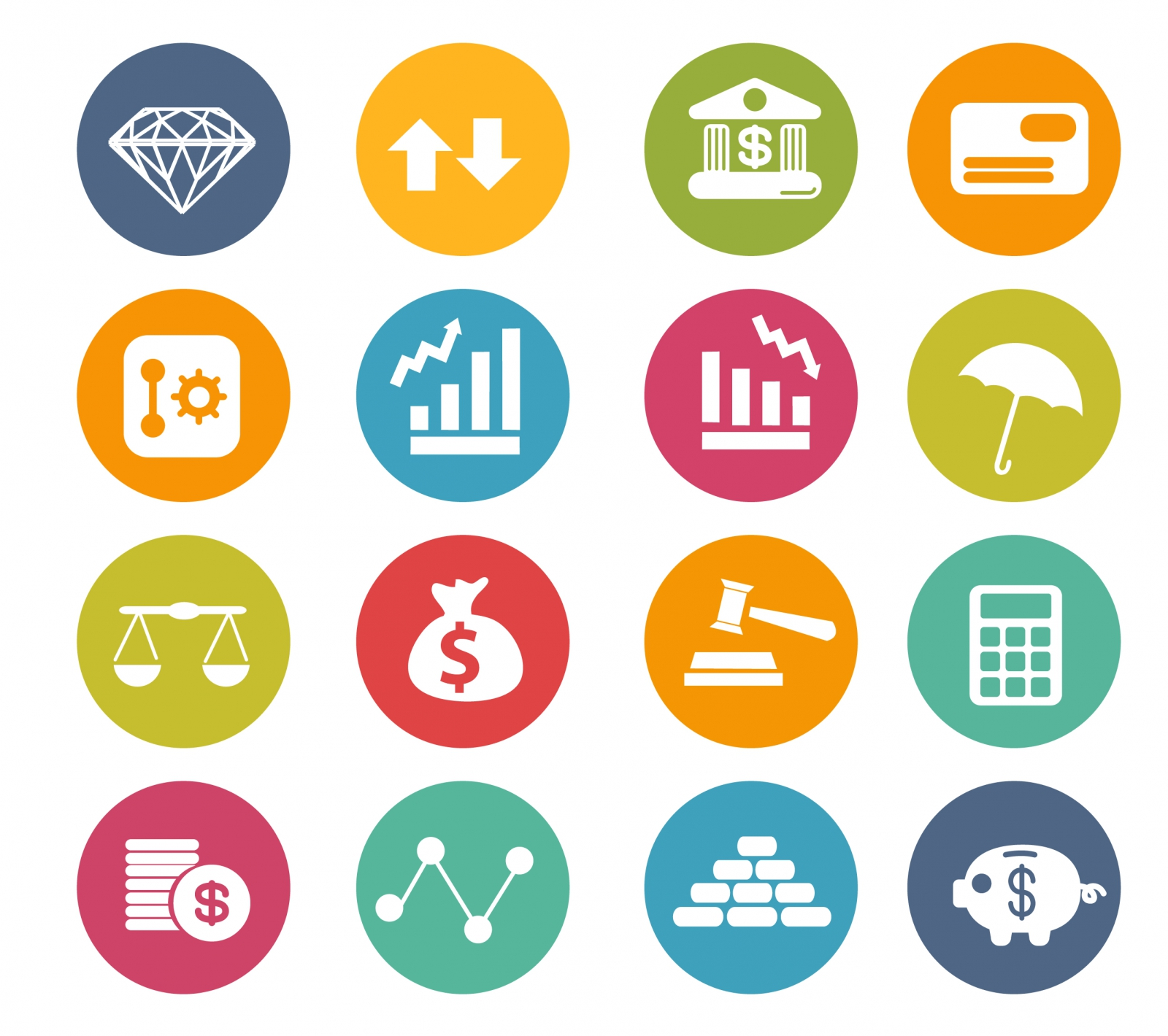 Finance Vector Icons Free