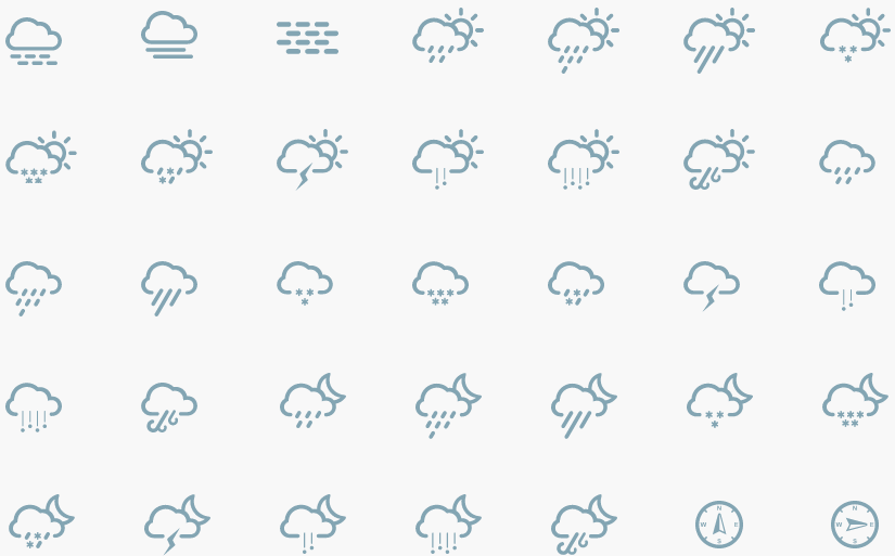 11 Flat Weather Icons Images