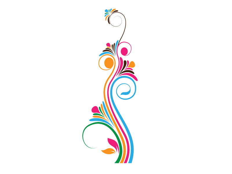 Floral Swirl Vector