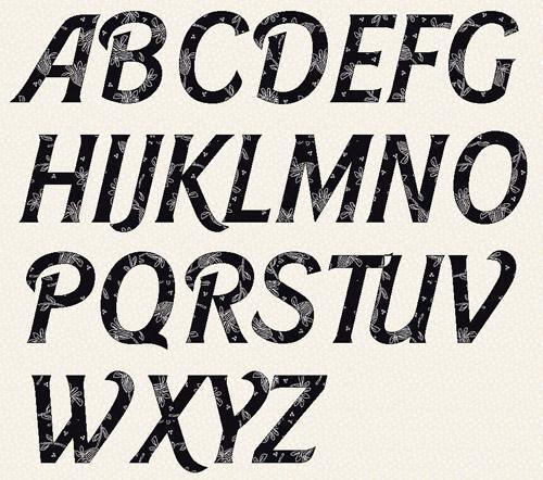 Font Alphabet Letter Templates