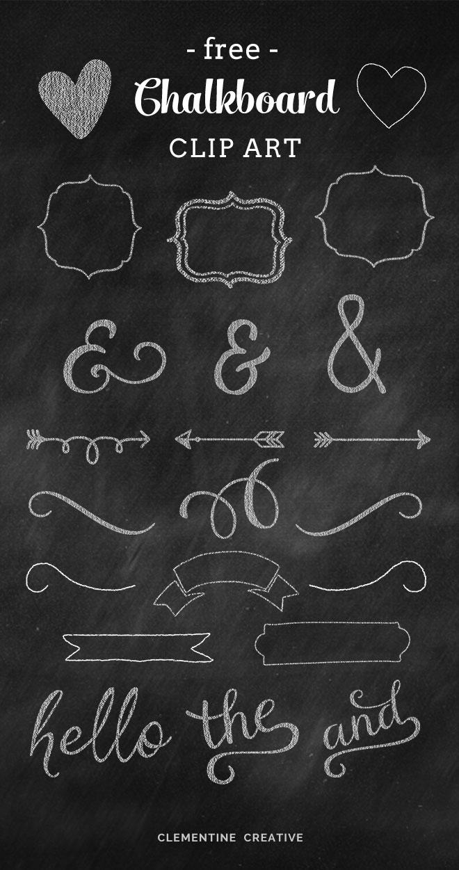 Free Chalkboard Banner Clip Art