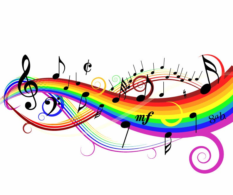 Free Colorful Music Notes Clip Art