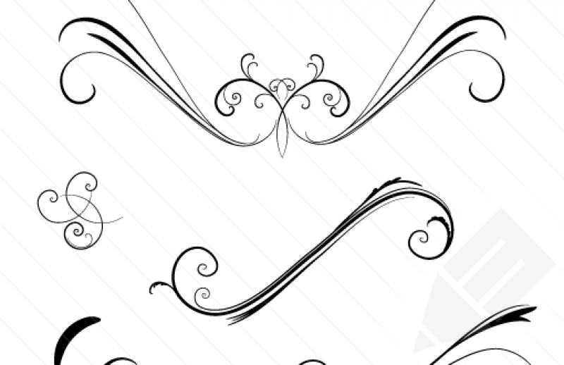 17 Fancy Swirl Vector Images
