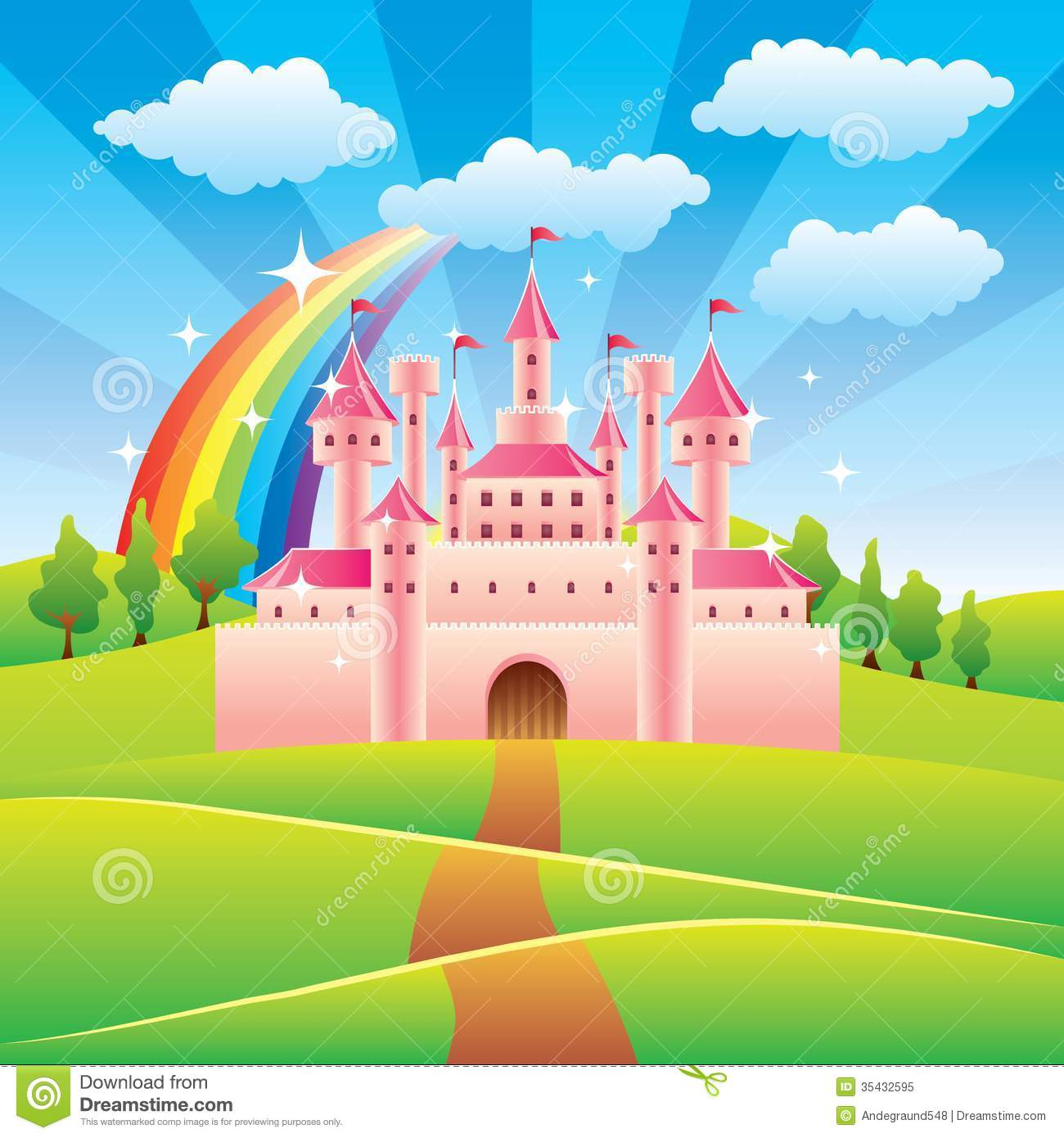 Free Fairy Tale Castle Cartoon