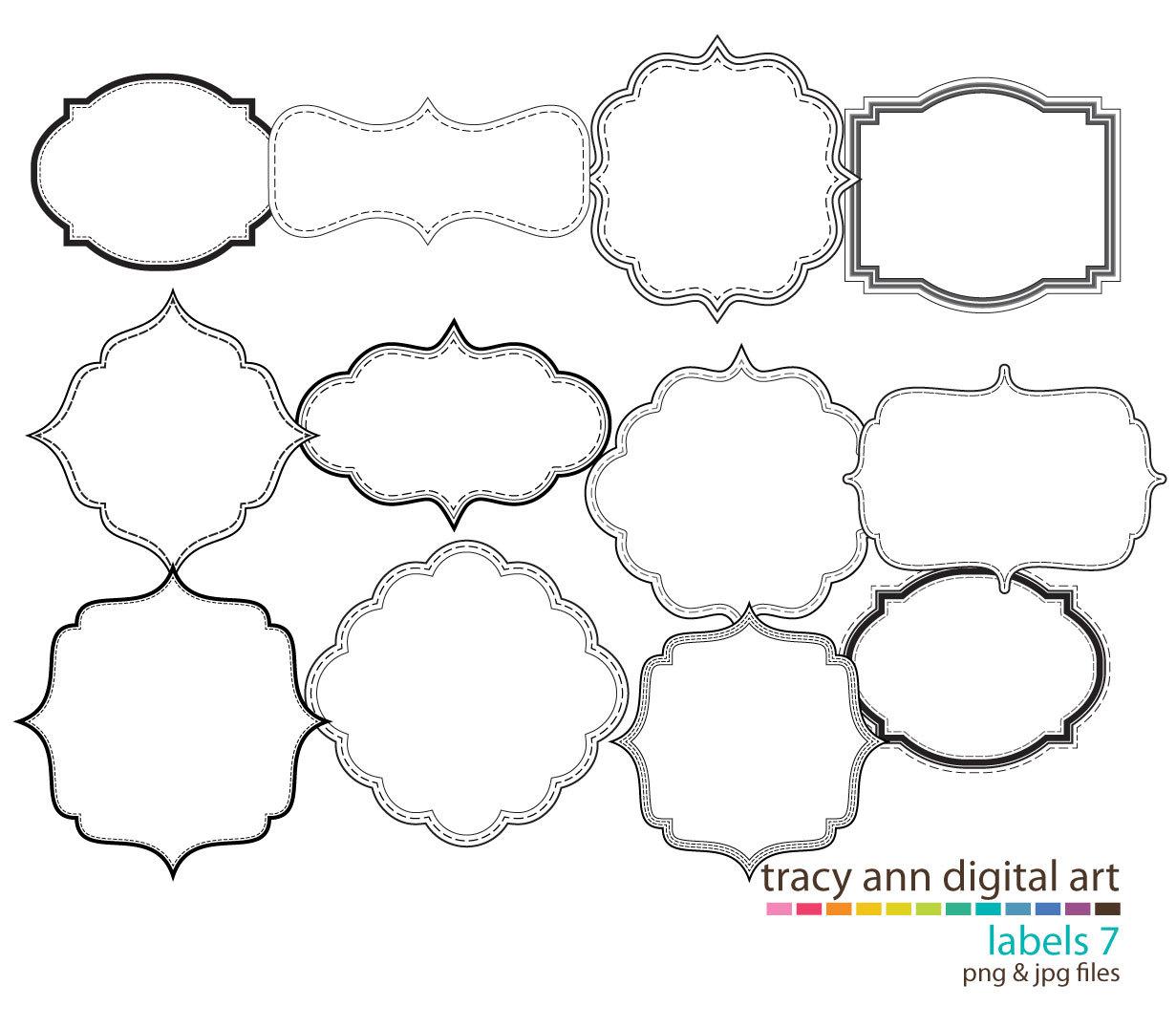 17 label templates clip art images - free label frames clip art